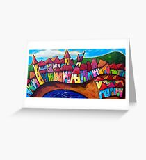 VILLAGE  IN    SICILY - ITALY Greeting Card