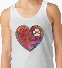 Dog Art - Puppy Love 2 - Sharon Cummings Tank Top