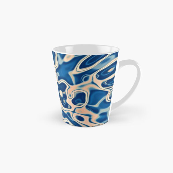 Abstraction of DarkSlateBlue Bisque Tall Mug