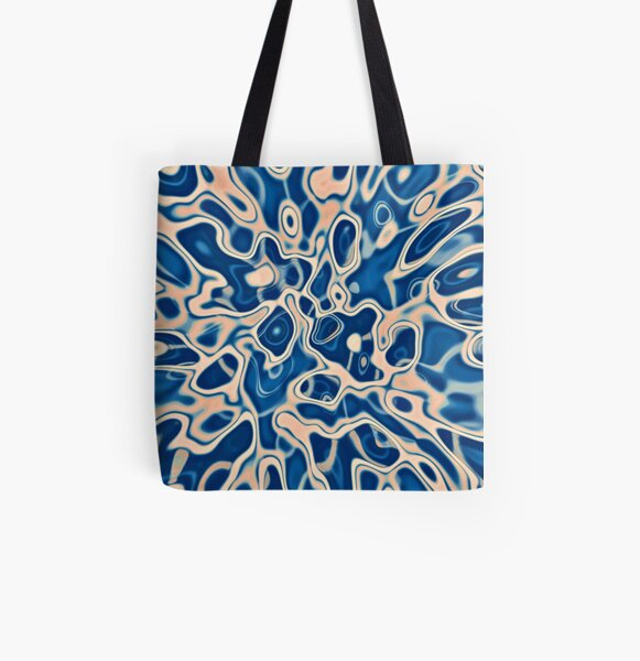 Abstraction of DarkSlateBlue Bisque All Over Print Tote Bag