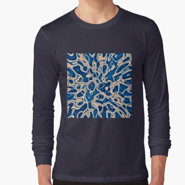Abstraction of DarkSlateBlue Bisque Long Sleeve T-Shirt