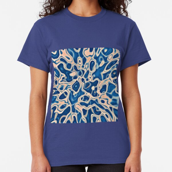 Abstraction of DarkSlateBlue Bisque Classic T-Shirt