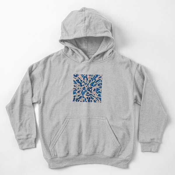 Abstraction of DarkSlateBlue Bisque Kids Pullover Hoodie