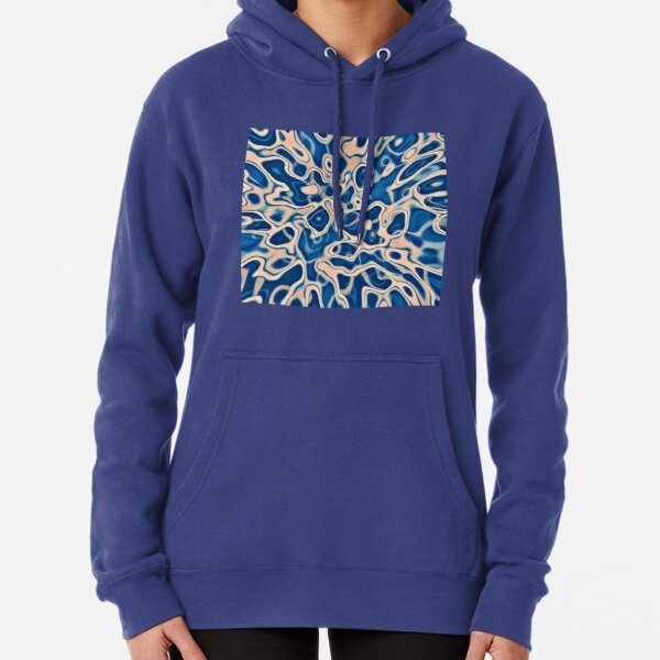 Abstraction of DarkSlateBlue Bisque Pullover Hoodie