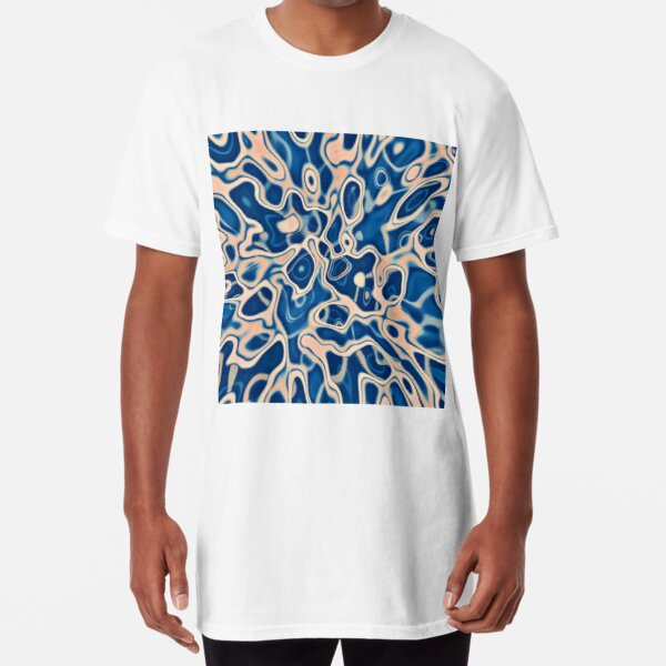 Abstraction of DarkSlateBlue Bisque Long T-Shirt