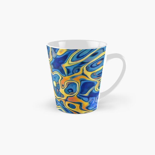 Abstraction of SteelBlue Golden Grass Tall Mug