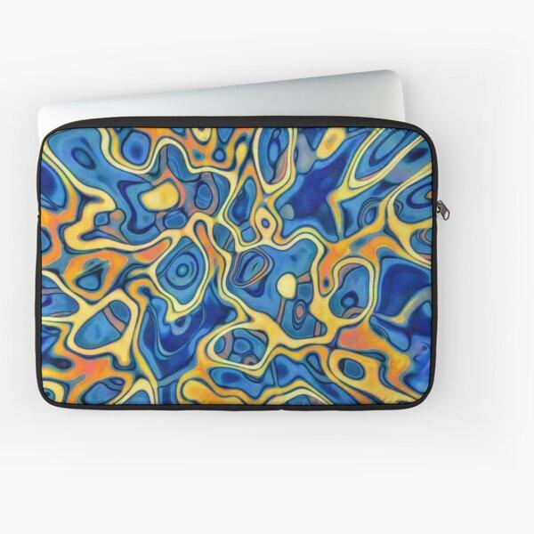 Abstraction of SteelBlue Golden Grass Laptop Sleeve