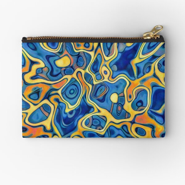 Abstraction of SteelBlue Golden Grass Zipper Pouch