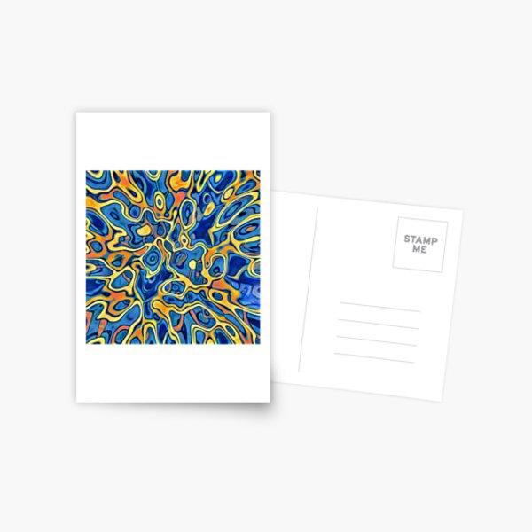 Abstraction of SteelBlue Golden Grass Postcard
