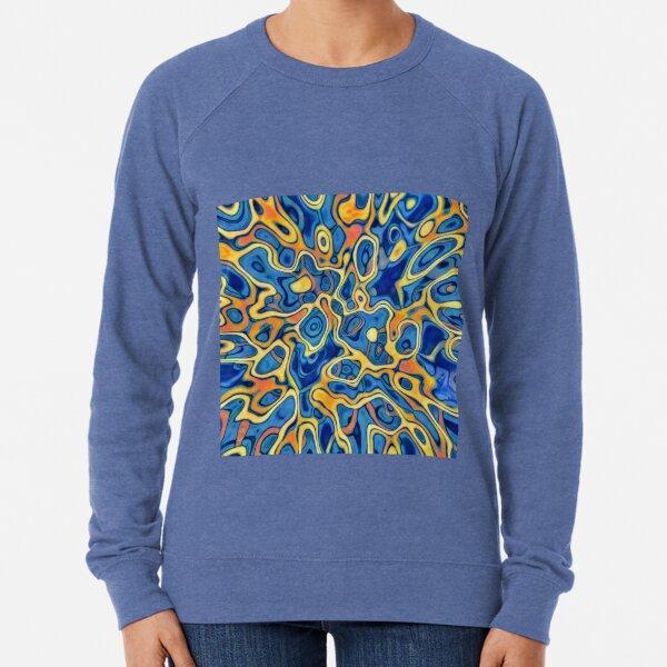 Abstraction of SteelBlue Golden Grass Lightweight Sweatshirt