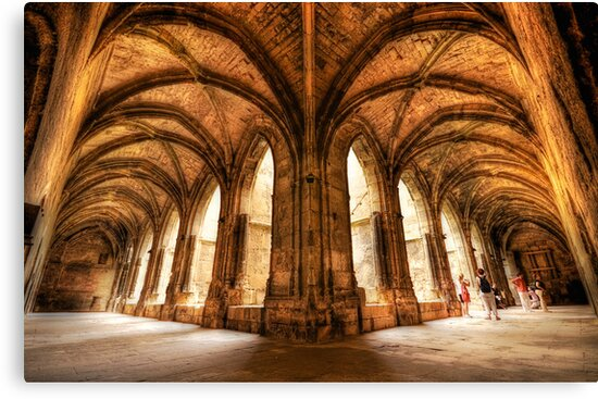 Cloisters of the Narbonne Cathedral by Luke Griffin