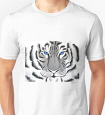 White Tiger with Piercing Blue Eyes T-Shirt