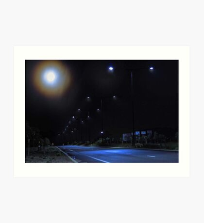 Moon Halo   Art Print