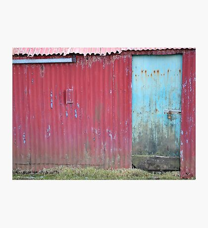 Weathered iron wall, Skye Photographic Print