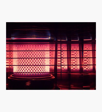 Takayama gas fire reflections, Japan Photographic Print