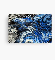Blue Acrylic Overflow Canvas Print