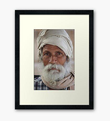 Veteran in Life Framed Print