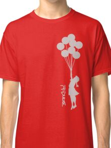 Banksy - Little girl with balloons Classic T-Shirt