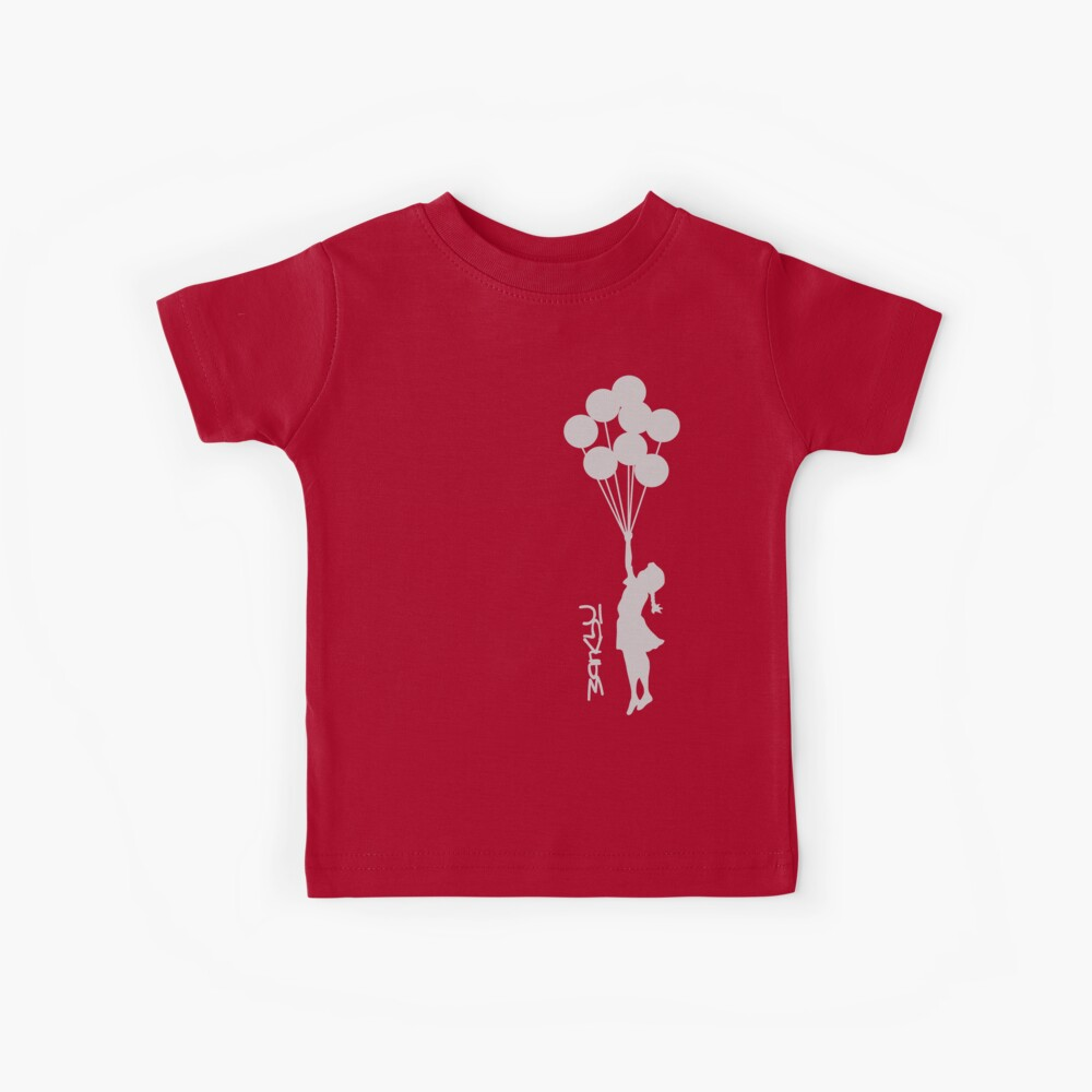 Banksy - Little girl with balloons Kids T-Shirt