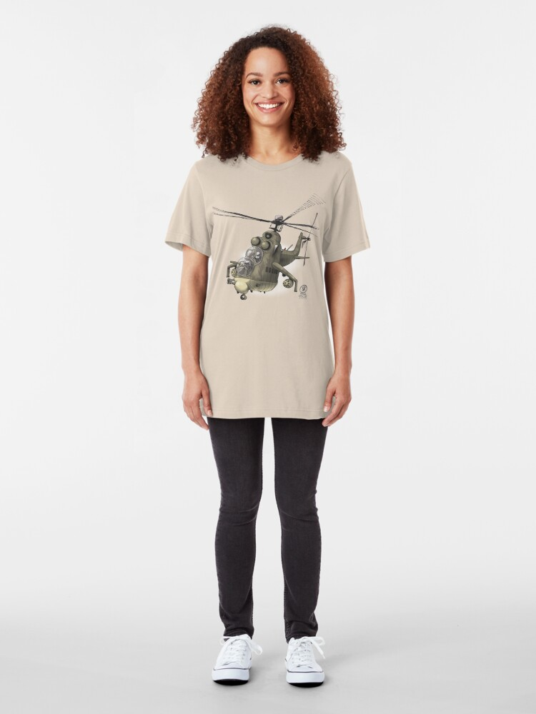Alternate view of Mil MI24 Hind Slim Fit T-Shirt
