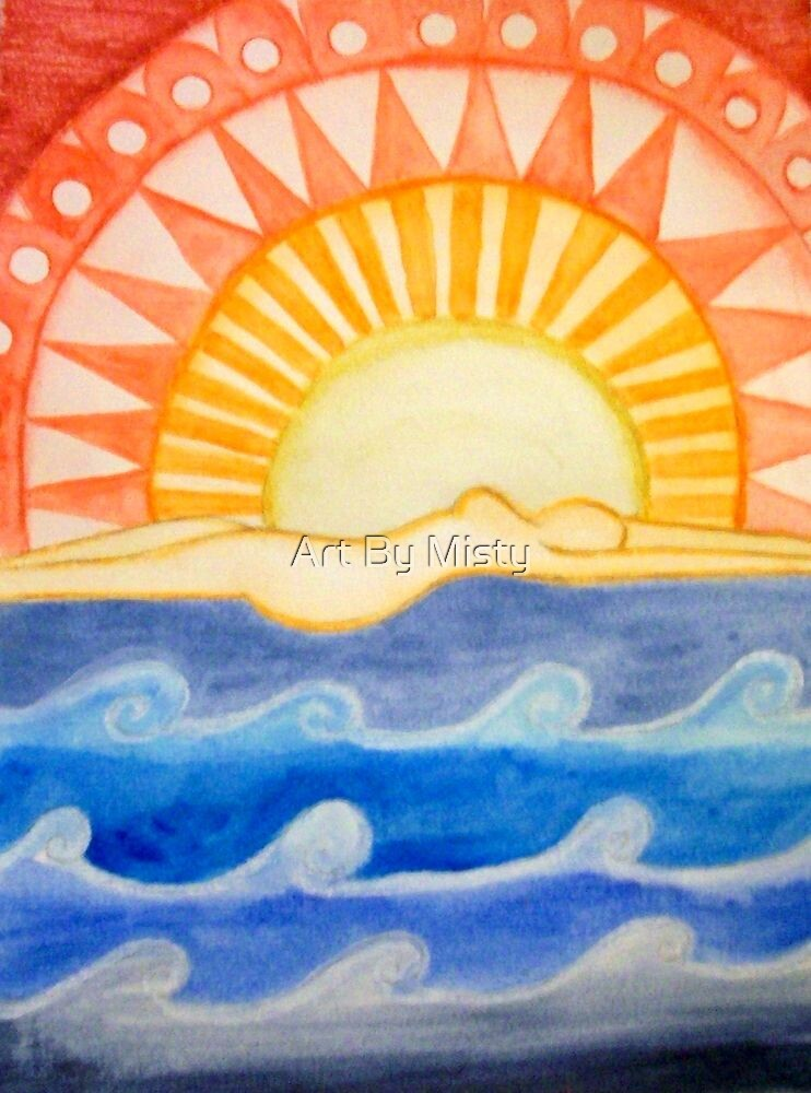 swimming with the sun by Art By Misty
