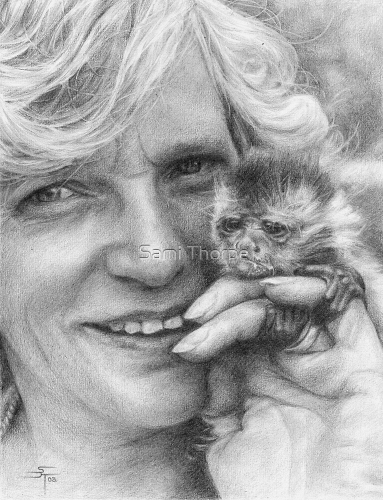 Portrait Commission (Baby Capuchin) by Sami Thorpe