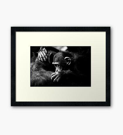 Sad hug Framed Print