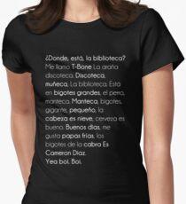 ¿ Donde Está La Biblioteca  ? Women's Fitted T-Shirt