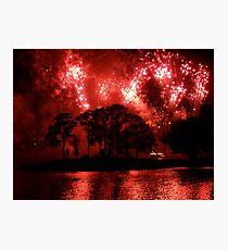Fireworks at Disney Photographic Print