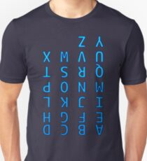 Upside Down Alphabet Unisex T-Shirt