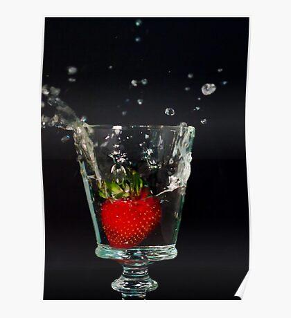 Strawberry Splash Poster