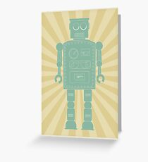 Retro vintage toy robot  Greeting Card