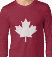 Canada Maple Leaf Flag Emblem Long Sleeve T-Shirt