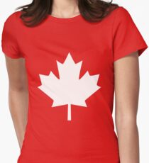 Canada Maple Leaf Flag Emblem Women's Fitted T-Shirt