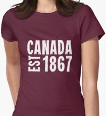 Canada Established 1867 Anniversary 150 Years Womens Fitted T-Shirt