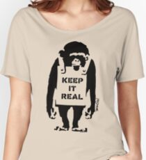 Banksy - Keep It Real Women's Relaxed Fit T-Shirt