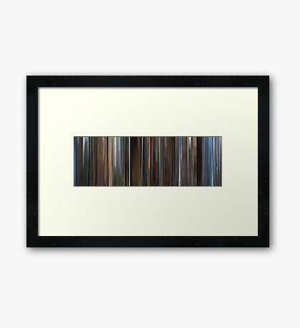 Moviebarcode: Monty Python and the Holy Grail (1975) Framed Print