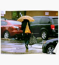 Rainy Day Jaywalker Poster