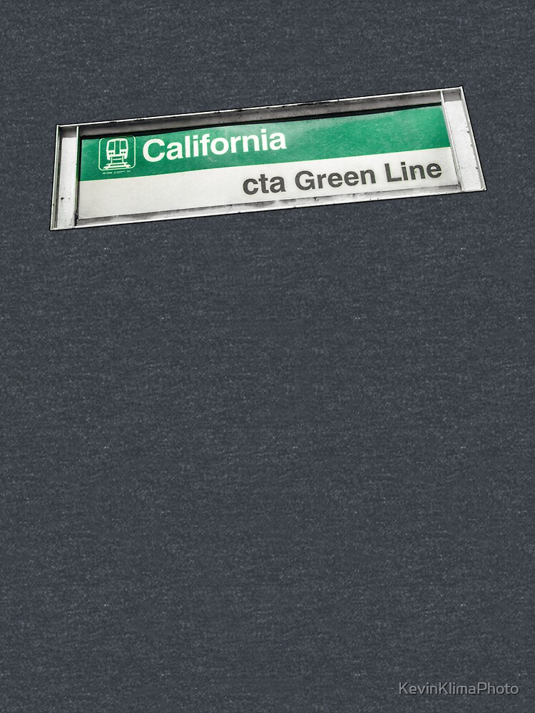 California CTA Green Line Station Sign by KevinKlimaPhoto