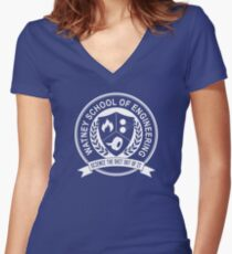 Watney School of Engineering Women's Fitted V-Neck T-Shirt