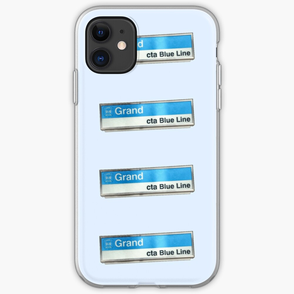 Grand Ave CTA Blue Line Station Sign iPhone Case & Cover