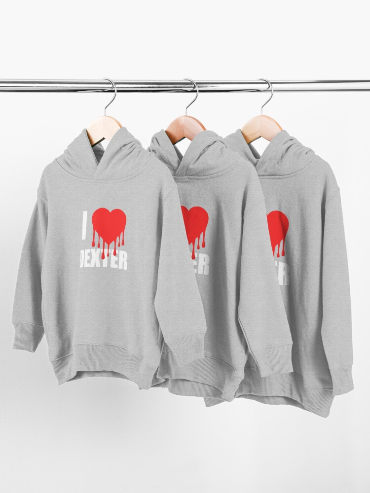 Alternate view of I Love Dexter Toddler Pullover Hoodie