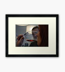 Wine tasting... Framed Print
