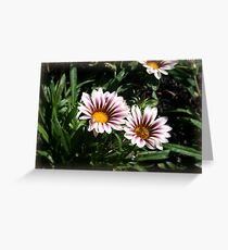 Little Flowers With Active Honeybee Greeting Card