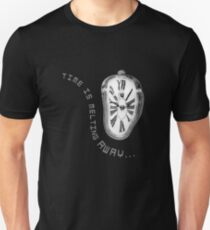 Salvador Dali Inspired Melting Clock. Time is melting away. Unisex T-Shirt