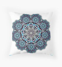black and blue kaleidoscope eye Throw Pillow