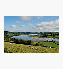 The estuary/Yr aber  Photographic Print