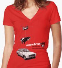 Careless Air Women's Fitted V-Neck T-Shirt