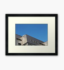 Fragment of modern office building Framed Print