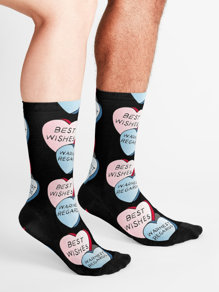 Alternate view of Best Wishes, Warmest Regards on candy. David Rose and Stevie banter awkwardly in Schitt's Creek at the Rosebud Moteel Socks